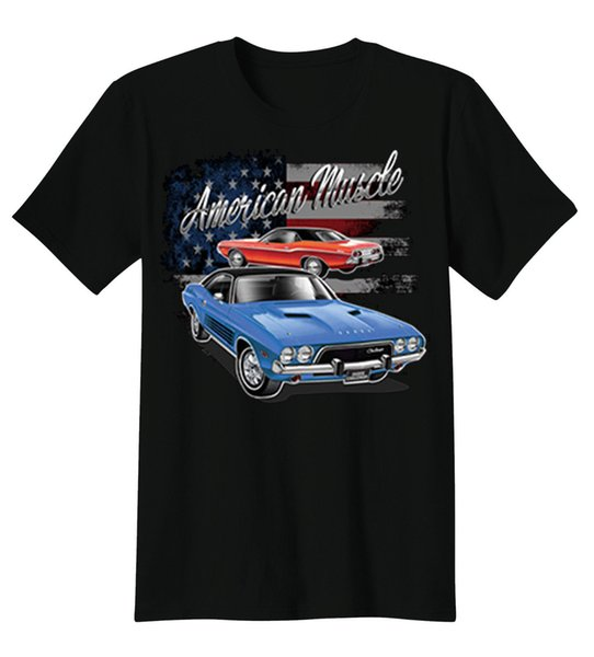 American Muscle Dodge Charger Hot Rat Rod Auto Cars T-Shirt Tee