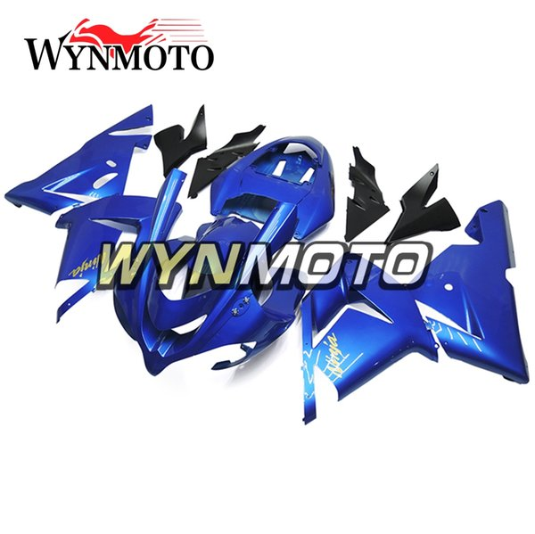 ABS Injection Bodywork kit For Year 2004 2005 Kawasaki ZX10R Full Fairing Kit Bodywork ABS Injection New Panels High Quality Blue Bodywork