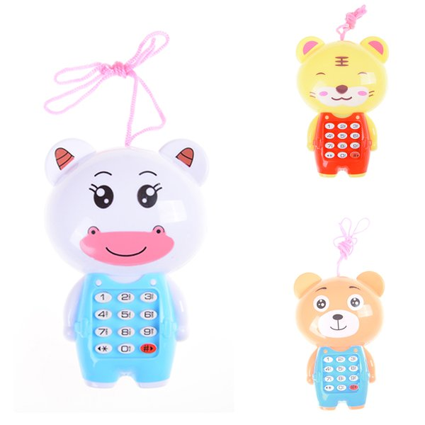 Cartoon Kids Music Phone Toys Educational Learning Toy Phone Gift for Kids Children's Toys Random Color Kawaii Baby Vocal
