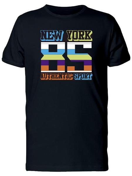 T-shirt New York 85 Authentic Sport pour hommes -Image by Shutterstock Cotton T-Shirt à la mode T-shirt