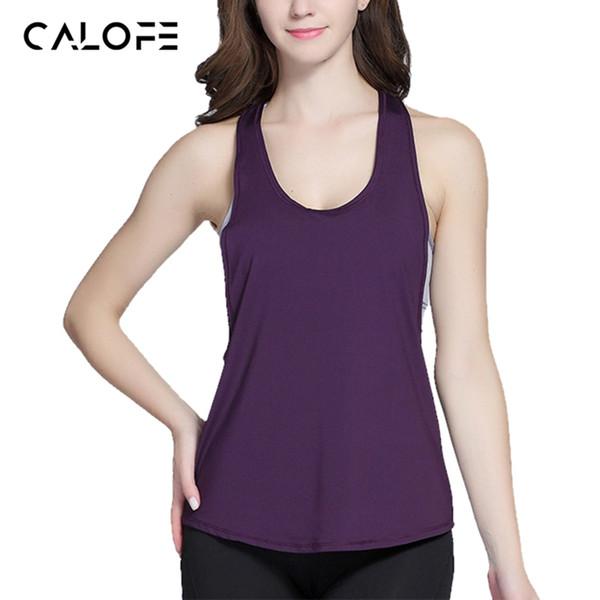 CALOFE 2018 Summer Crop Top Sporting Women Tank Top Fitness Workout Tops Gyming Women Sleeveless Shirts Sporting Loose Vest