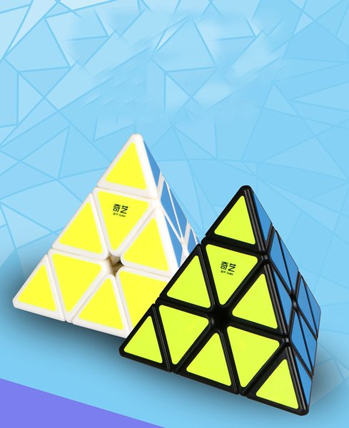 Magic Cube Qiyi Qiming A Pyramid Rubik Cube 3 Order Triangle 4 Face Children's Puzzle Shaped Toys