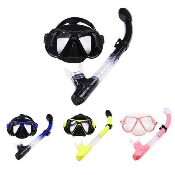 Gafas de silicona líquida Equipo de buceo Snorkel seco traje de Norkeling 2518 + s18