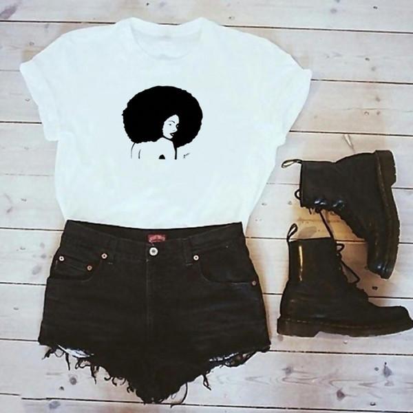 Tee-shirt pour femme New Women Fashion Character T-shirt imprimé été Casual Tops à manches courtes S - 3xl Grunge Tumlbr Goth Coton Tees Style de rue
