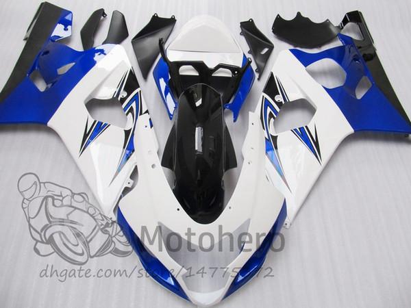 Black white blue fairing kits FOR SUZUKI GSXR600 GSXR750 2004 2005 K4 K5 GSXR 600 750 04 05 GSX-R600 GSX-R750 fairings #E3V41 +gifts