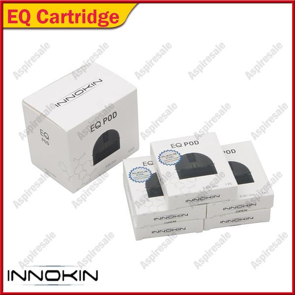 Cartucce di ricambio magnetiche 100% originale Innokin EQ Cartridge 2ml Cartucce di protezione magnetica con cappuccio di 0,5ohm Plexus per kit EQ