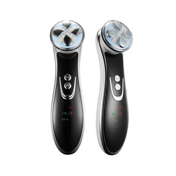 Vente chaude Facial EMS Électroporation RF Radio Fréquence LED Photon Visage Levage Serrer Ride Removal Sonic Vibration Massager