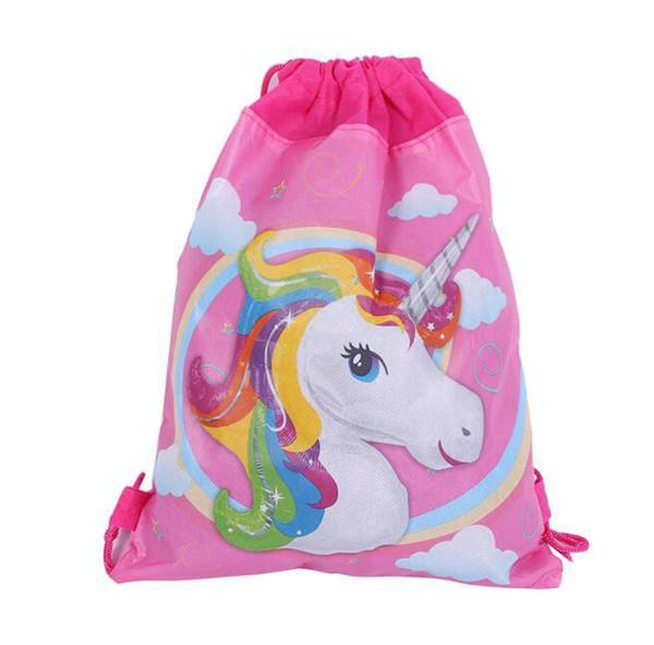 Unicorn Drawstring Bags Kids Backpack Girls Boys Pouch Gift Bags Children School Travel Storage Bags Schoolbag KKA4463