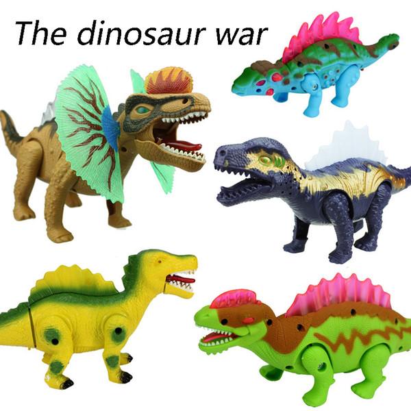 Electric Dinosaur bark Toy Interactive Toys Walk Brinquedos Wyvern hadrosaur Stegosaurus tyrannosaurus always one for kids toys