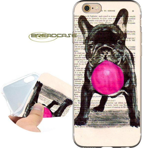 2c16bde80af76 Coque French Bulldog Draw Cases For IPhone 10 X 7 8 6S 6 Plus 5S 5 SE 5C 4S  4 IPod Touch 6 5 Clear Soft TPU Silicone Cover. Cute Phone Cases Cheap ...