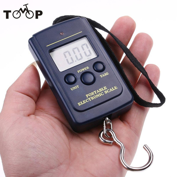 20g-40Kg Pocket Digital Electronic Hanging Hook Weight Scale Fishing Scales Tackle Tool Screen Display Navy blue Kg/Lb/oz