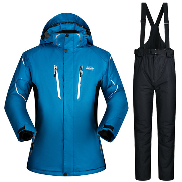 2018 New Winter Ski Suit Men Outdoor Thermal Waterproof Windproof Snowboard Jackets Pants Climbing Snow Skiing Clothes Set Brand