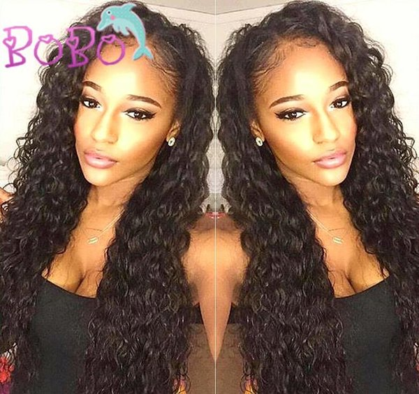 Water Wave Full Lace Wig 100% Virgin Human Hair Wigs For Women Middle Part /Side Part Wavy Lace Front Wig With Natural Hairline