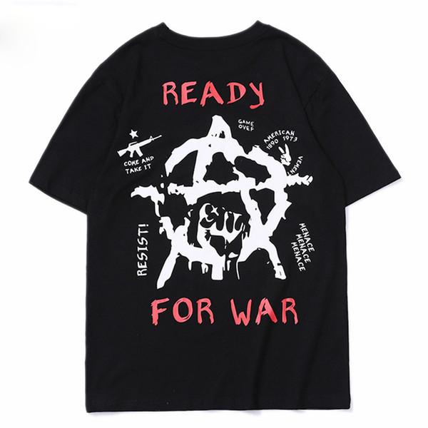 New Arrival Punk T-shirts Men 3D Letter Pattern Summer Short Sleeve Hip Hop Swag T Shirt Skateboard Tees