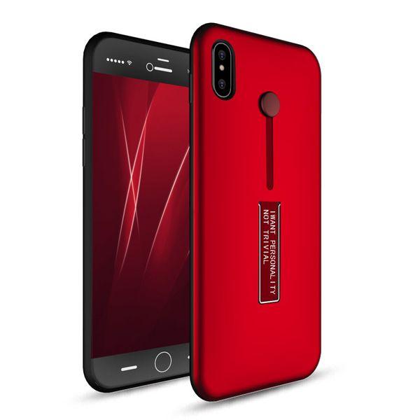 Finger Holder ibrida Defender Hard Case Kickstand per l'iPhone XS Max XR X 8 7 6 Plus Samsung Galaxy S10 E S9 Nota 9 M10 M20 M30 A50 A70