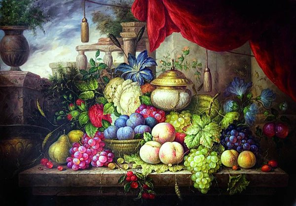 Free shipping Vintage still life fruits print painting on canvas high quality home dinner room decor
