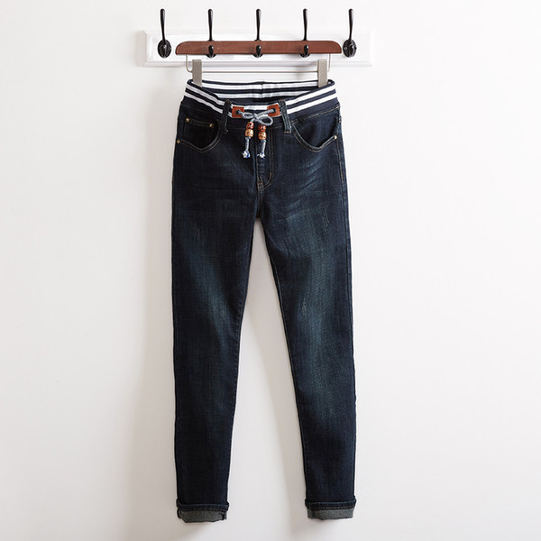 2018 Mens Skinny Jean Distressed Slim Elastic Jeans Denim Biker Jeans Hip hop Pants Washed Ripped Large Big Size 28-46 48