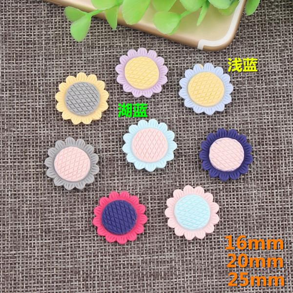 16 MM 20 MM 25 MM Sonnenblume Daisy harz charme nachahmung tuch haarschmuck DIY kinder bleistiftkasten handgemachten material