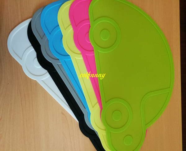 20pcs/lot Fast shipping Car shape Silicone Tableware Mat Heat Resistent Kid Placemat Table pad dinner plate mats
