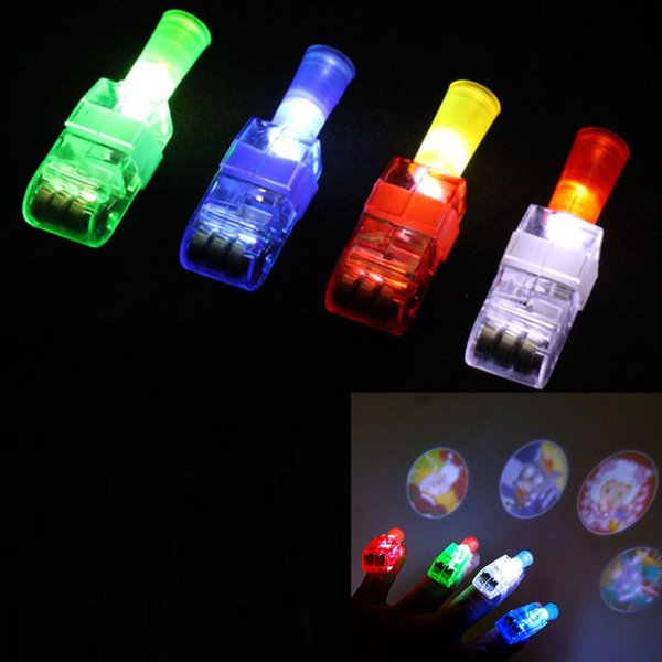 LED Finger Ring Beams Projectors Party Nightclub Glow Laser Light Torch