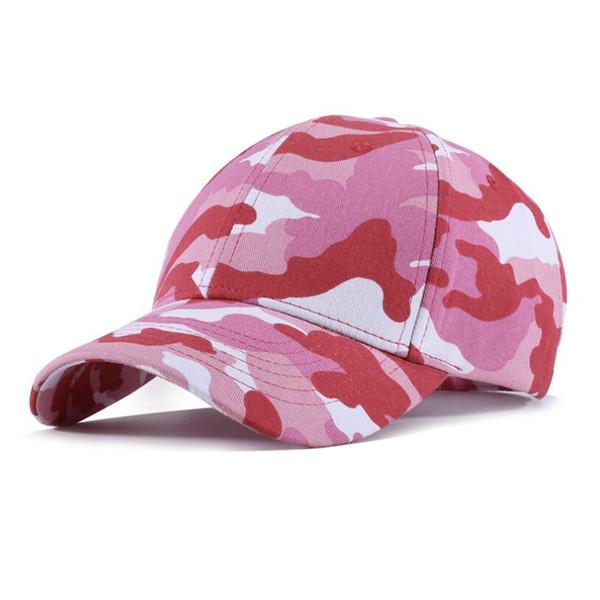 Nuovo arrivo camouflage design berretti da baseball in cotone regolabile camo rosa cappelli da baseball primavera autunno all'aperto per il tempo libero lady fashion hat