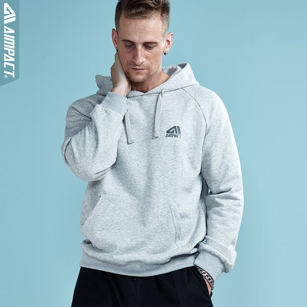 Cotton Casual Hoodies Sweatshirts for Men 2018 New Fashion Urban College Pullovers Brand Clothing Streetwears by Aimpact AM4010