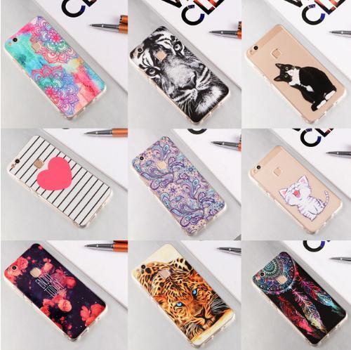 Weiche tpu silikon telefon case für huawei p10 lite p9 p8 mate 10 lite pro p10 plus y5 ii y6 y3 ii für honor 8 lite 6x 7x rückseitige abdeckung