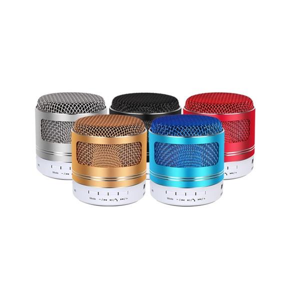Mini Altoparlanti Bluetooth Con microfono Supporto audio stereo Radio FM Carta TF Altoparlante LED Superficie metallica Musica portatile Gioca Boombox