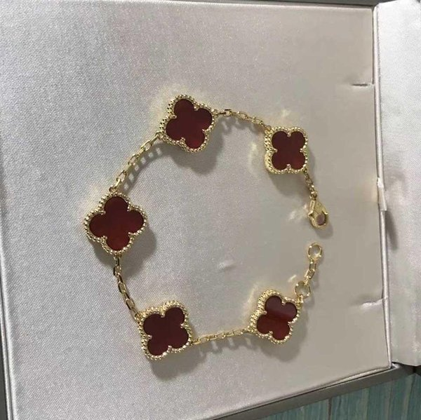 18k gold+red agate