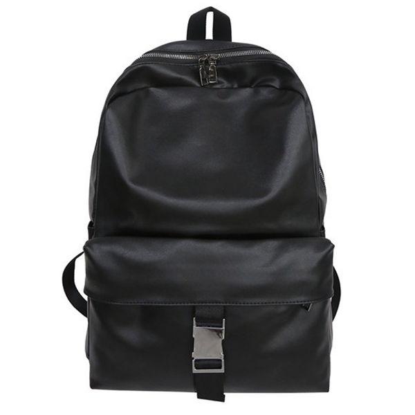 Vintage Neutral Leder Rucksack Student Satchel Mode Reise Schule Rucksack Tasche
