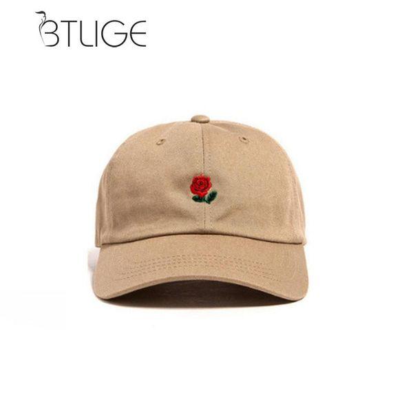 BTLIGE The Hundreds Dad Hat Flor Rose bordado Curve Brim Gorra de béisbol visera Hat Accesorios de vestir