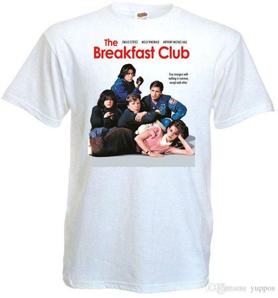 Print T Shirts Short Printing Das Frühstück Club T-Shirt weiß Movie Poster alle Größen ... 5XLprinted T-Shirts Männer Streetwear