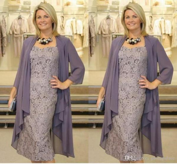 Grosshandel Neue Kleider Fur Die Brautmutter Zwei Stucke Chiffon