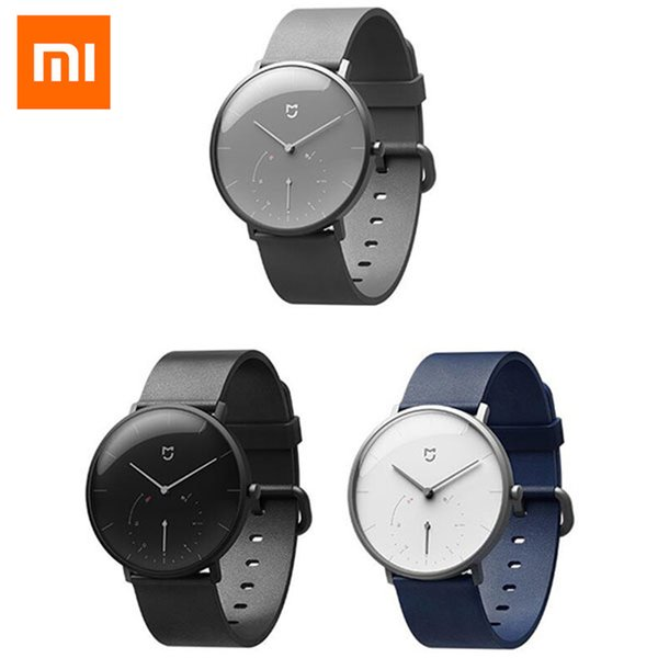 Original Xiaomi Mijia Waterproof Quartz Watch Smart Band BT4.0 Pedometer Automatic Calibration Time Vibrate Stainless SmartWatch
