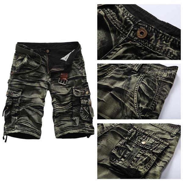 Men's Summer Cotton Combinaisons Coton Camouflage 5 Points Pantalon Shorts D'été Camouflage Pantalon