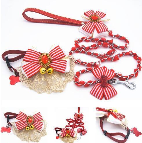 Adjustable Pet Clothes Puppy Dog Collar Leash for Small Medium Animals Pet Walking Hand Strap Dog Supplies Dropship 60