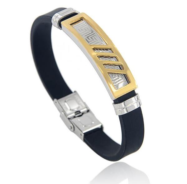 Une variété de styles. Bracelet homme en acier inoxydable avec gel de silice.