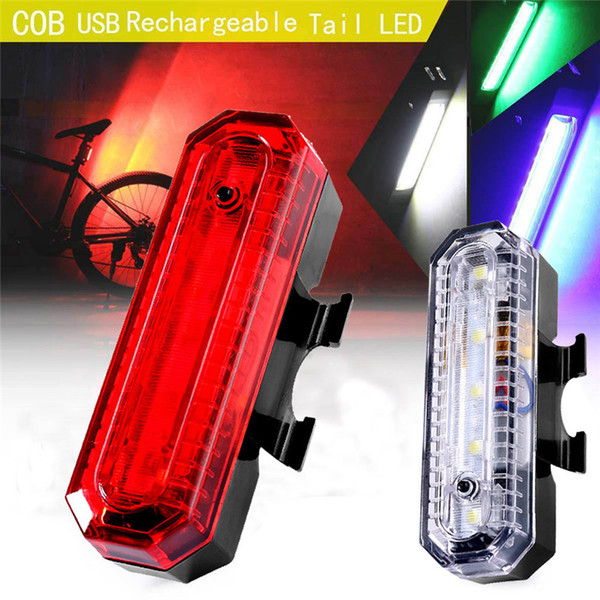 Bicycle Light LED Front Bicycle Bike Cycling Rear Tail Light Rechargeable USB 4 Modes bike Waterproof safety warn #2g27
