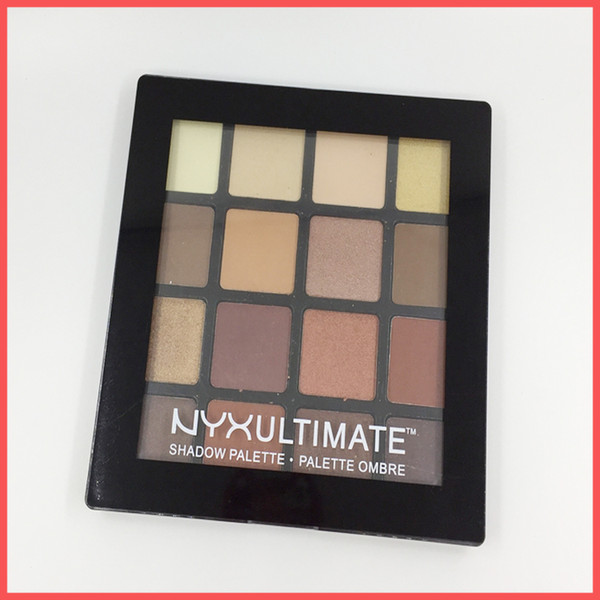 Free Shipping by ePacket NYX Ultimate Eyeshadow Ombre Palette 16 colors Nude Shimmer Matte Eye shadow Makeup NYX Cosmetics palette