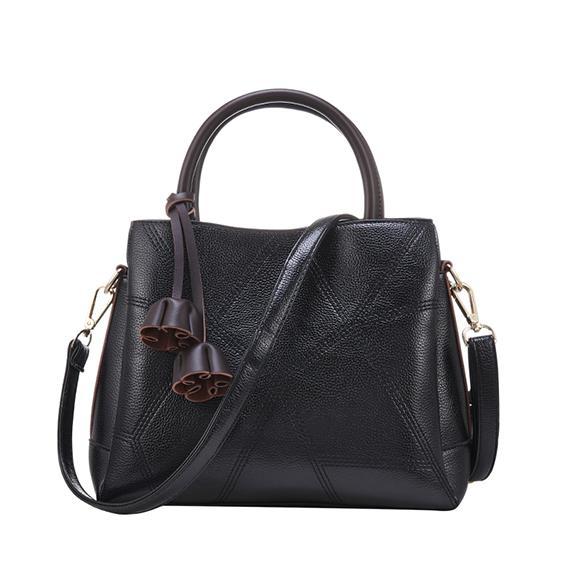 new handbags purse tote bag pu leather fashion handbag casual shoulder bags diagonal cross bag tassel big bag