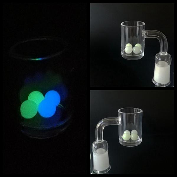 Neueste Leuchtende Glowing 8mm Quartz Terp Tupfen Perlen Einfügen Blau Grün Klarglas Terp Top Perlen für Quarz Banger Nagel SW51