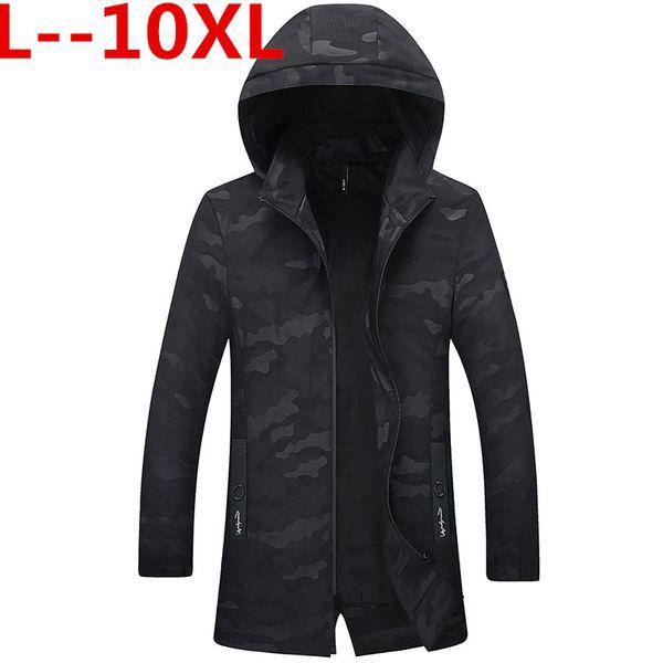 10xl 8xl 6xl 5xl camouflage mens long jackets trench coat men loose hooded windbreaker mens clothing casaco masculino thumbnail