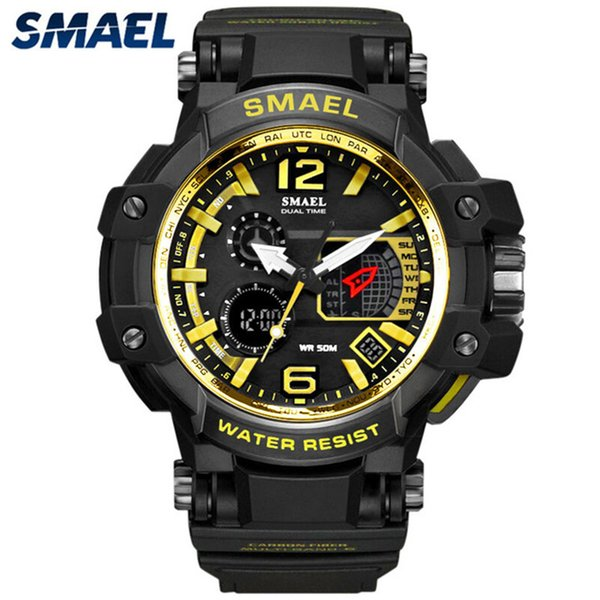 Smael men sports led relógio digital mens relógios top marca de luxo relógios eletrônicos à prova d 'água homens relogio masculino