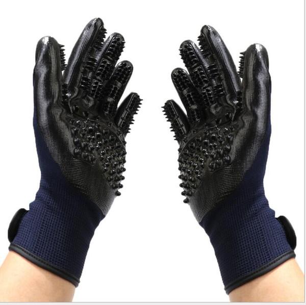 Pet Handschuhe für Hund Katzen Tiere Pet Top Qualität Pflege Handschuhe Hund Katze Haar Reinigungsbürste Kamm Schwarz Gummi fünf Finger Deshedding