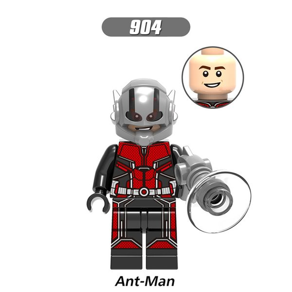 WholeSale Building Blocks Super Heroes XH 904 Ant-Man Figures Wasp Zuri Baron Zemo Iron Man Ghost Captatin Marvel Bricks Toys for Children