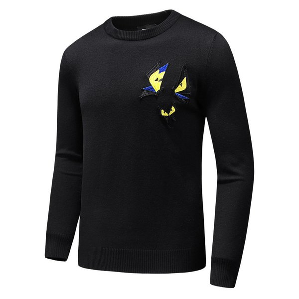Embroidery Butterfly wool warm sweaters Luxuy Brand mens Casual Jumpers  cashmere pullover shirt European Men Winter fcb7e4888