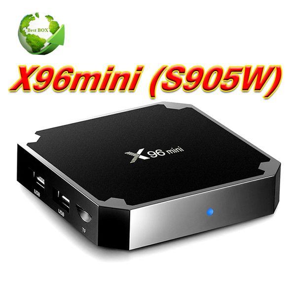 X96 mini S905W Android TV Box 1 GB 8 GB Quad Core 100 M Lan 2.4G WiFi 4K VP9 HDR10 IPTV Android 7.1 Smart media player
