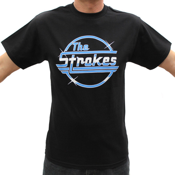 The Strokes Rock Band Graphic T-Shirts Classic Cotton Men Round Collar Short Sleeve Top Tee Free Shipping Men T Shirt