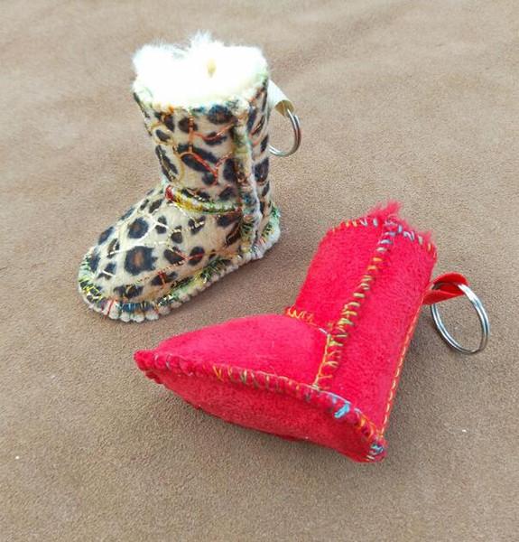 DHL Shoes Key Chain Fur suede shoes Car Cell Phone Charms Handbag Pendant Key Holder Gift Keychain Shoe Key Ring nt