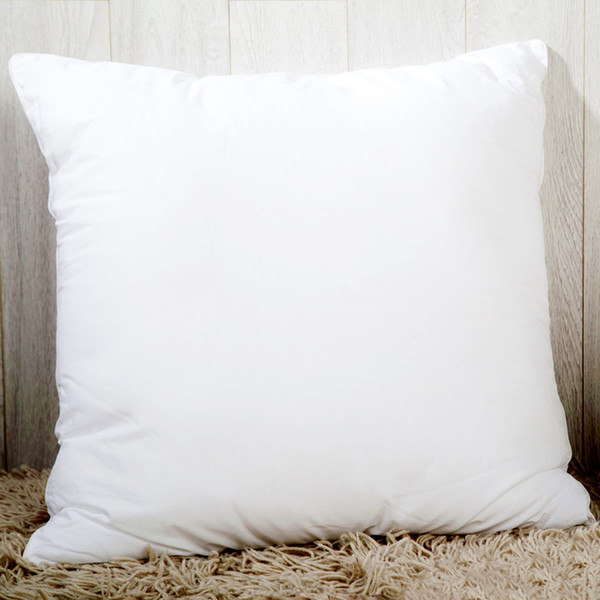top popular Heat printing Sublimation Pillow Case Solid color Pillow Covers OEM Cushion 40X40CM without insert bolster Oreiller 2019